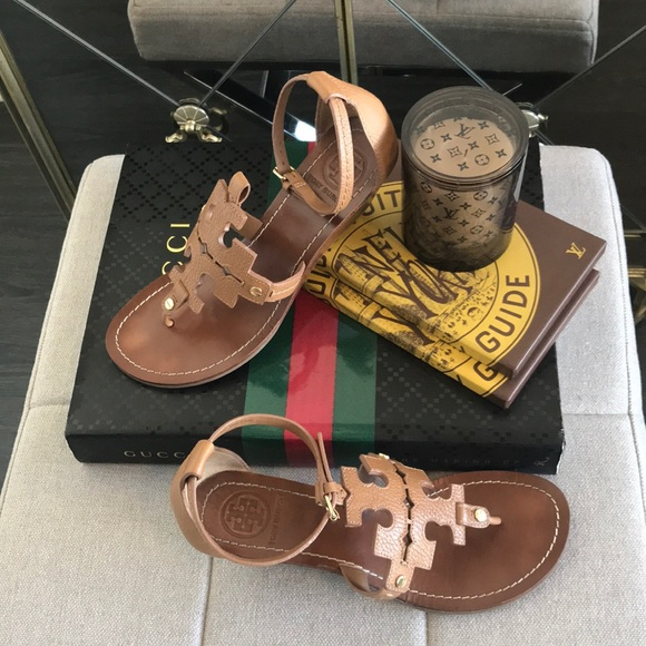 2b90f1b8d7c0 Tory Burch Chandler Logo Wedge Sandals    Shoes. M 5b2189ccf63eead1a11355eb